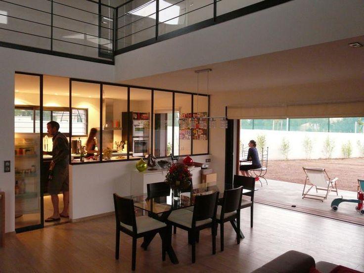 16 best Verrière images on Pinterest Kitchen, Glass walls and Workshop