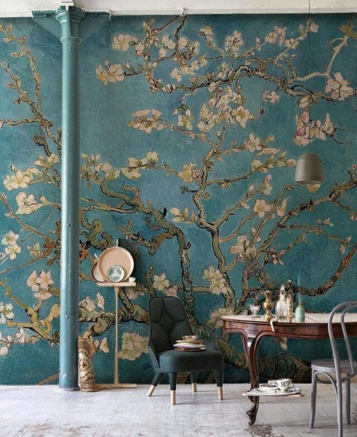 This art wallpaper mural is both sophisticated