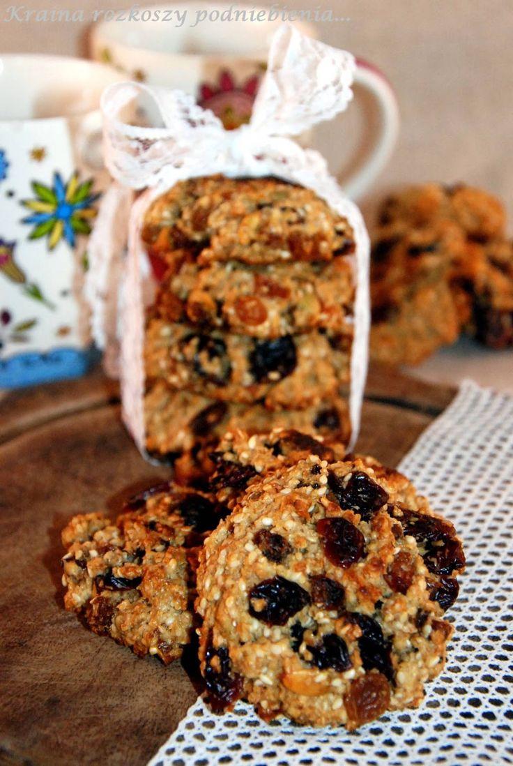 Kraina rozkoszy podniebienia...: Zdrowe ciasteczka owsiane bez cukru