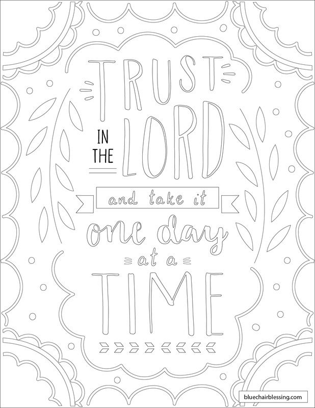 Trust The Lord And Take It One Day At A Time Downloadable