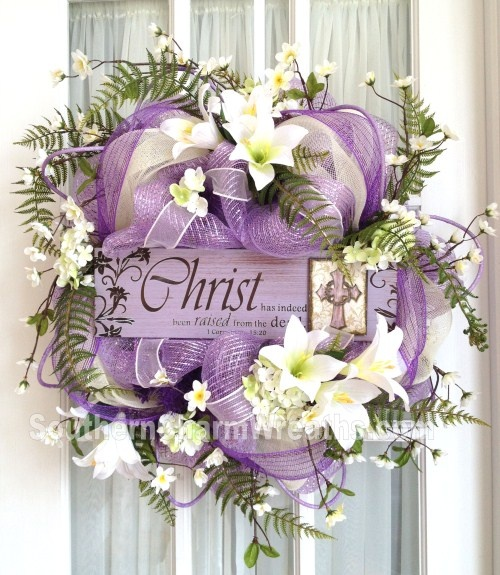 Easter Deco Mesh Wreath #decomeshwreath #wreaths