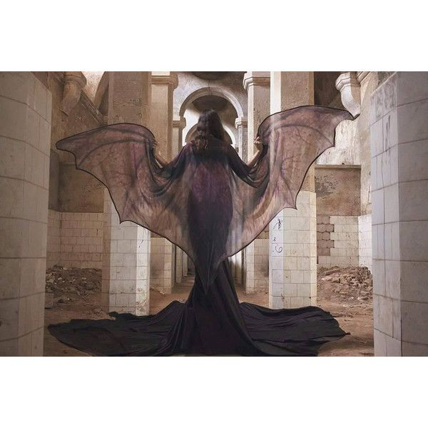 Bat Wings Dragon Demon Cape Halloween Costume Adult Fairy Cape Belly... ($185) ❤ liked on Polyvore featuring costumes, grey, women's clothing, bat wing costume, belly dancer costume, adult fairy costume, womens fairy costume and adult women costumes
