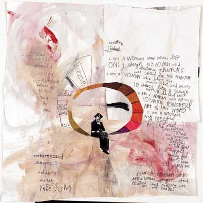 Watercolor, collage, crayons, pens & pencils, on a variety of surfaces.    Artist:Sabrina Ward Harrison.
