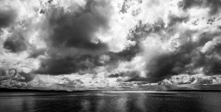 Stormy sky at lake Saimaa