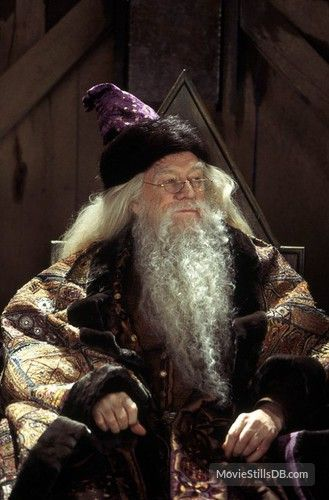 Harry Potter and the Sorcerer's Stone --Richard Harris as Dumbledore -- Publicity still of Richard Harris