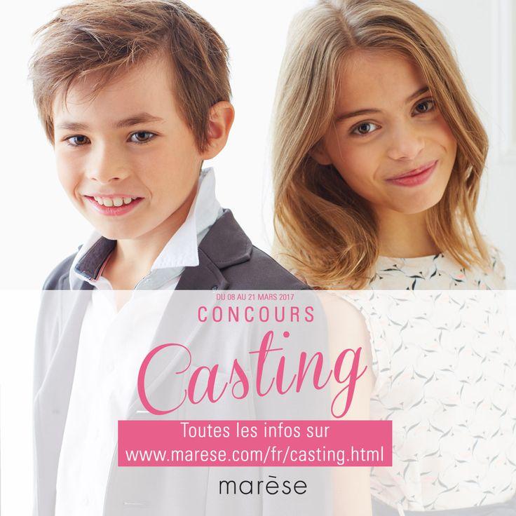 Jusqu'au 21 mars, participez au concours Casting Marèse ! Envoyez-nous la photo de votre enfant sur casting@marese.fr. Toutes les infos sur notre site.