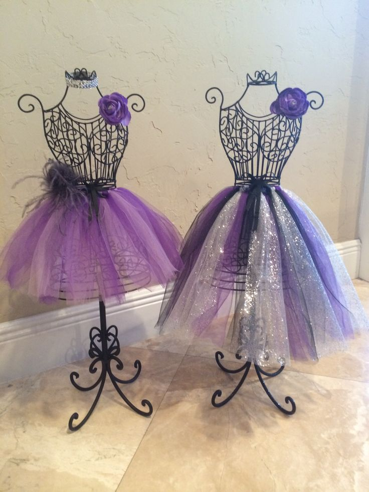 Wire Dress Form Centerpieces