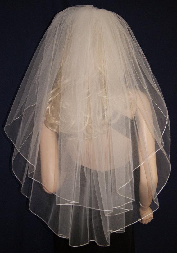 Wedding Veil Elbow Waist Hip length White