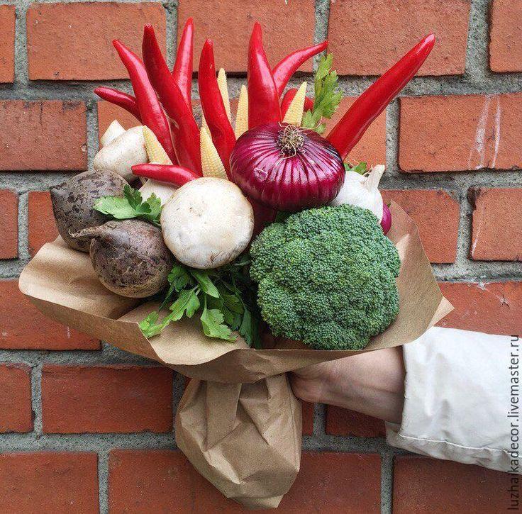 Купить Витаминная охапка - комбинированный, букет, овощи, подарочный букет, букет для мужчины, букет для мамы