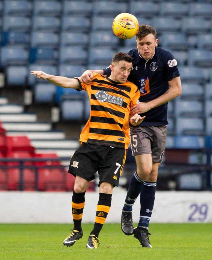 Queen's Park's Adam Cummins in action during the SPFL League One game between Queen's Park and Alloa Athletic.