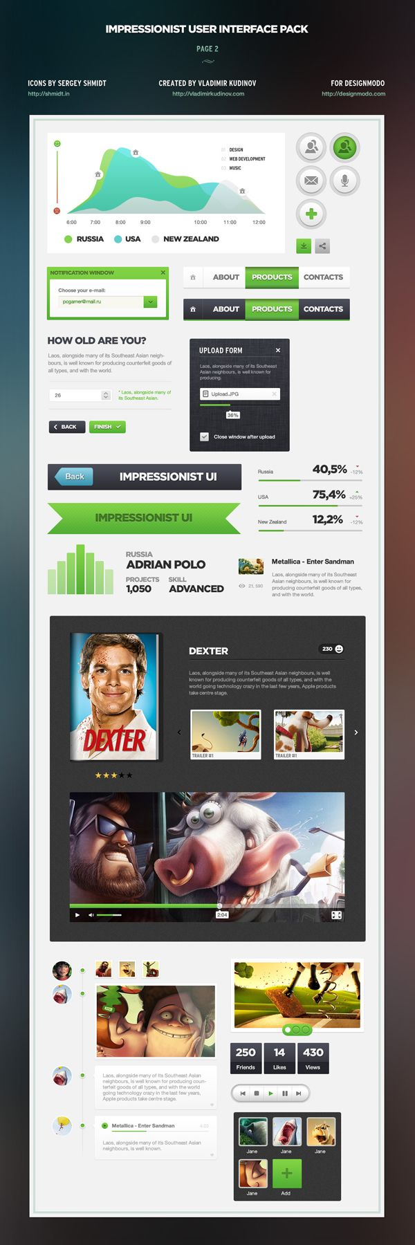 User interface pack