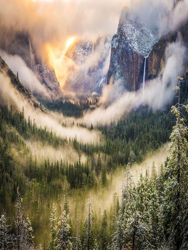 Yosemite Valley  is a glacial valley in Yosemite National Park in the western Sierra Nevada mountains of California. The valley is about...