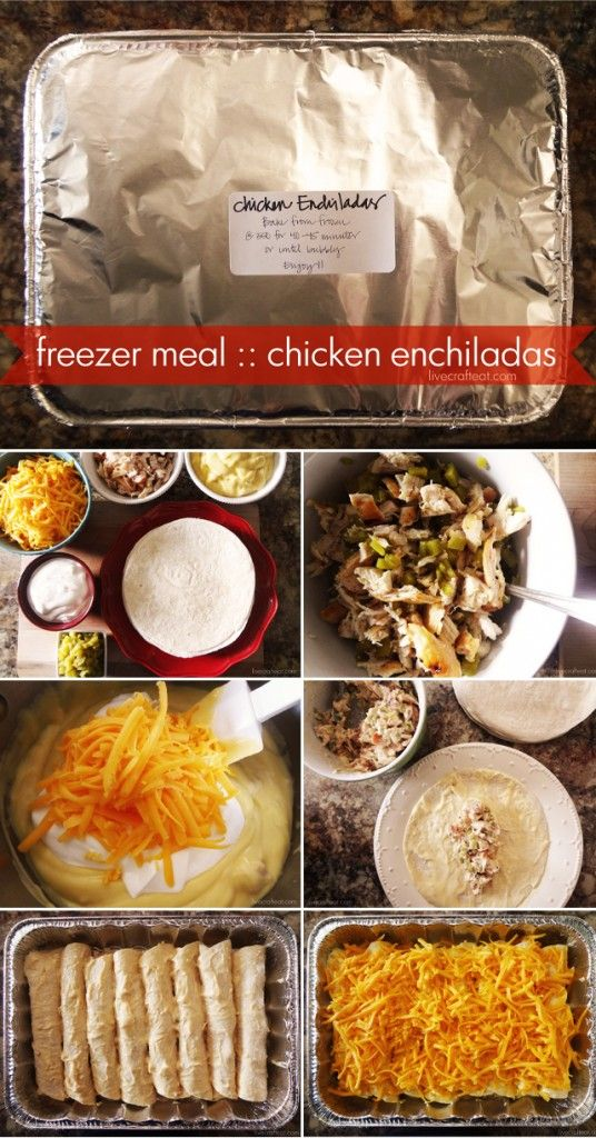 {freezer meal :: chicken enchiladas - so easy and so yummy! we make a double recipe} Have you ever tried making freezer meals?