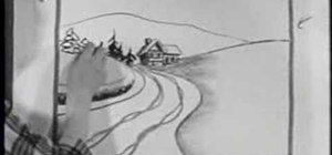 How to Draw a snowy road scene with a nostalgic 50's film « Drawing & Illustration