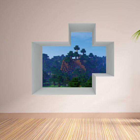 Blockartig Welt Fenster Set 4 Schuss 5 Wandtattoo Diese Sind Massive Aufkleber Mit Sehr Hochwertigem Mater Minecraft Room Minecraft Bedroom Vinyl Wall Decals