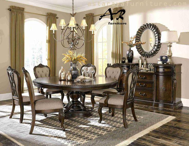 Set Meja Makan Klasik Jati Furniture Jepara