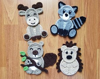 Arctic Expedition Applique Pack- Crochet Pattern Only- Polar Bear- Penguin- Walrus- Orca Whale- Crochet Applique Pattern