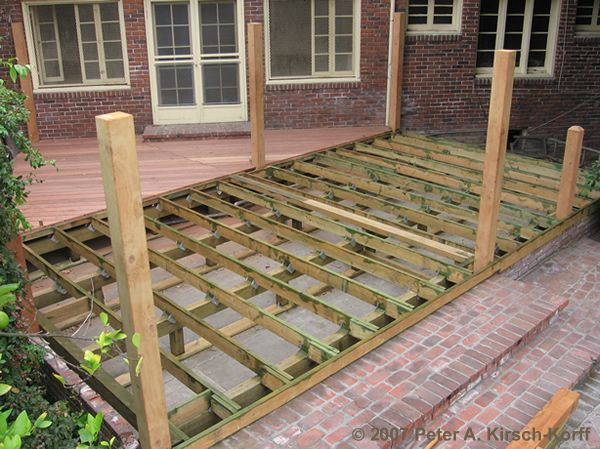 New Wood Deck Framing Of Wood Deck Los Angleles Ca