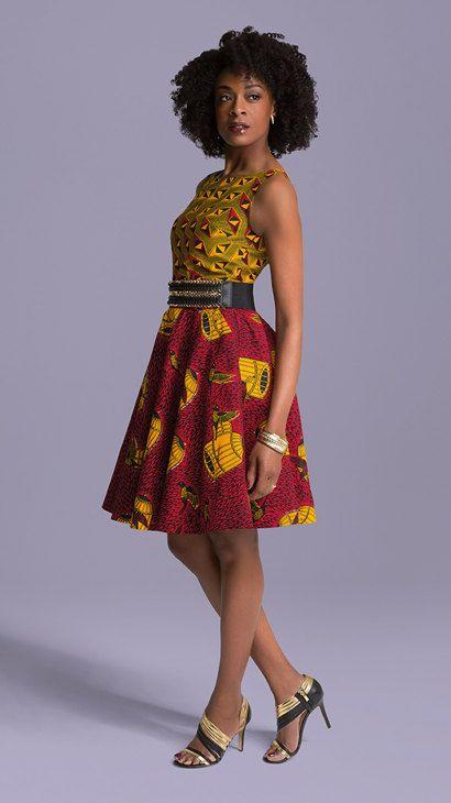 Africano mezclado vestido corto estampado ropa por HouseOfIzzi