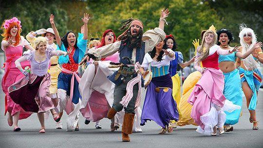 The Disney Princesses like bad boys... RUN, JACK! RUN!!!