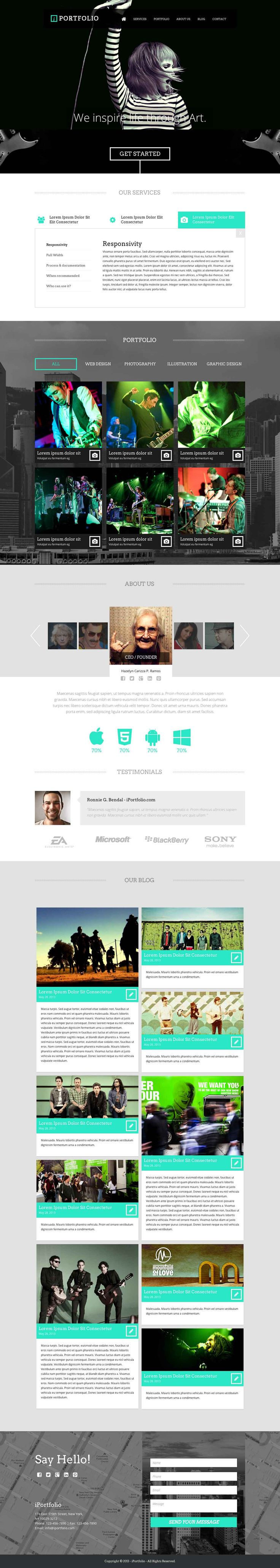 iPortfolio is a unique one page template, it is a perfect option for creating website that related to photography, creative agency, portfolio, music and band, freelance.  #webdesign #it #web #design #layout #userinterface #website #webdesign #design #webdesign #template #web #graphic #psd #photoshop #website #theme
