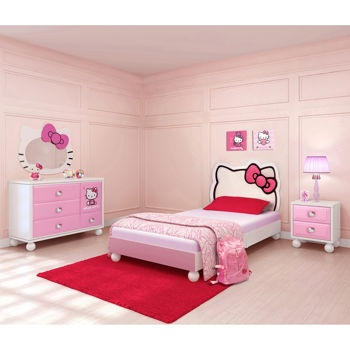 LOVE THIS Hello Kitty 4 Piece Bed In A Box Kids