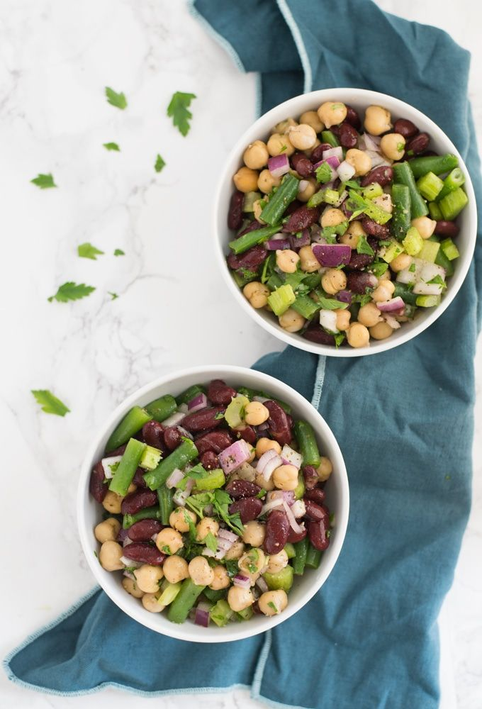 Three Bean Salad Three Bean Salad Healthy Christmas Recipes Side Salad Recipes
