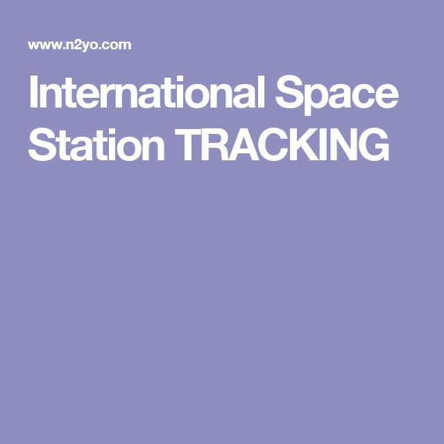 International Space Station TRACKING
