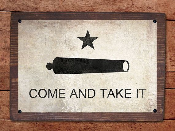 Come and Take It mounted print by RusticPost on Etsy