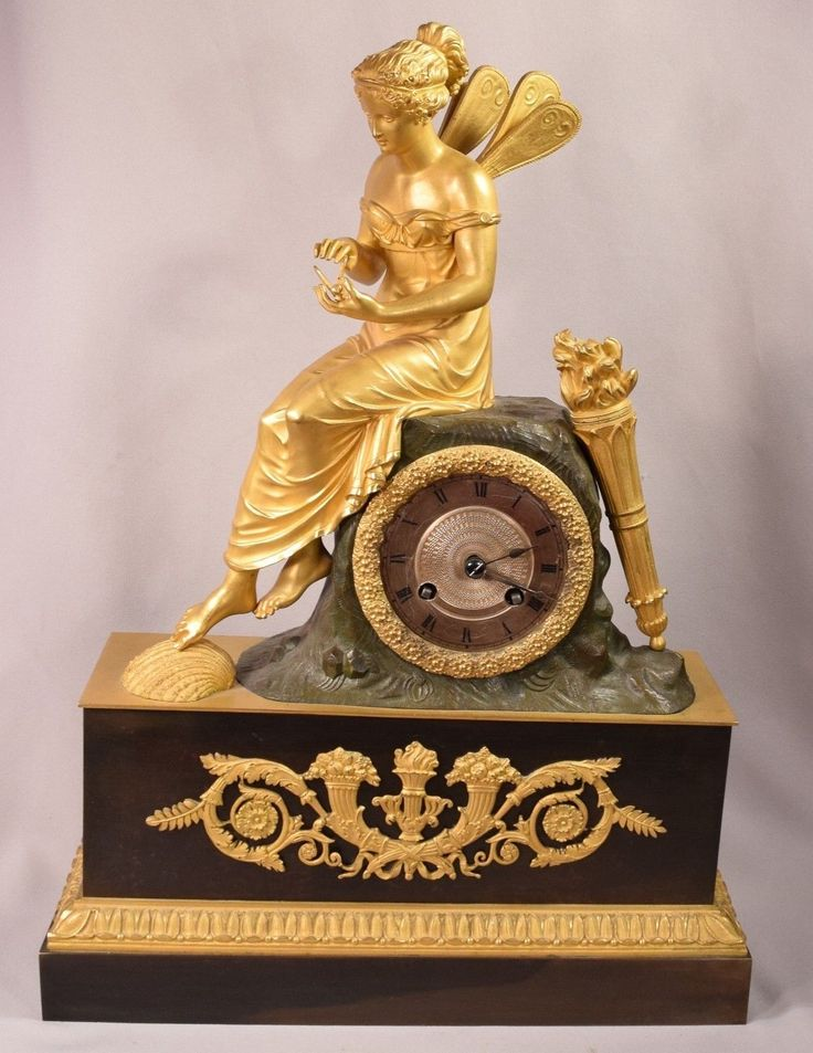 Ultimate Extraordinary Antique Gilt Bronze French Clock Fairy Holding Bumble Bee   eBay  5k
