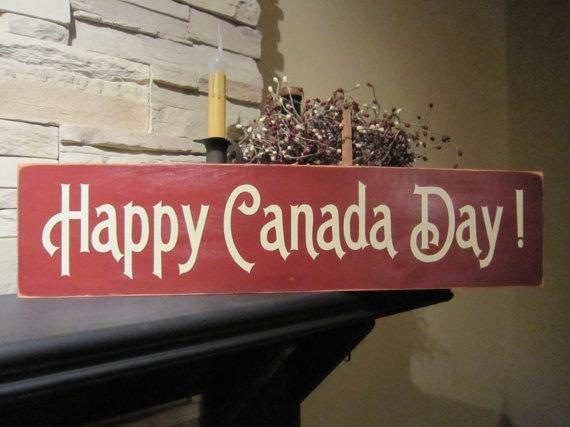 Happy Canada Day Primitive Rustic Canadian by PrimitiveExpressions, $21.00