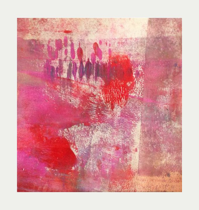 by Marlene Bjerregaard monoprint acrylic