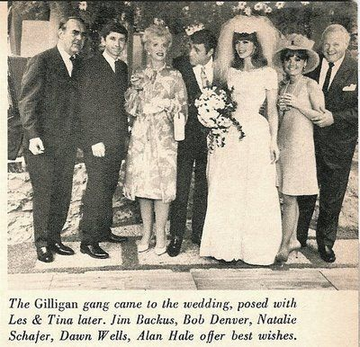 In 1966, 'the movie star,' Ginger on Gilligan's Island got married in real life to Les Crane. The Gilligan crew all came to Tina Louise's wedding. Tina's not married these days but she's still with us and is 80. She and Dawn Wells are the 2 surviving Gilligan cast members!