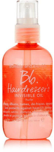 Light weight oil to minimize frizz and achieving shiny, soft hair. Bumble and Bumble - Hairdresser's Invisible Oil, 100ml