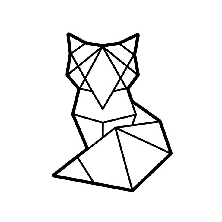 лиса из треугольников рисунок сочное