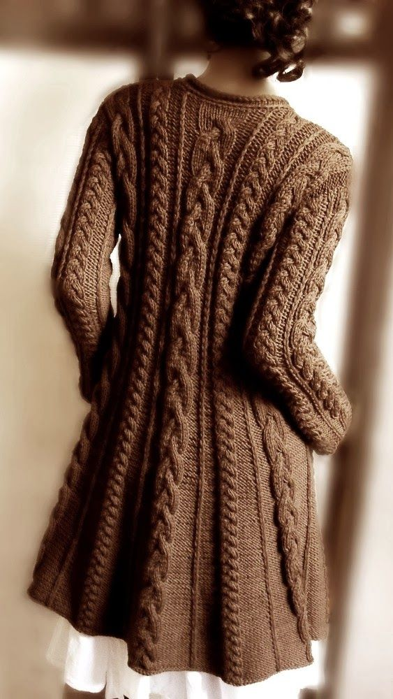 Gorgeous knitted large cardigan fashion trend - fab colour!