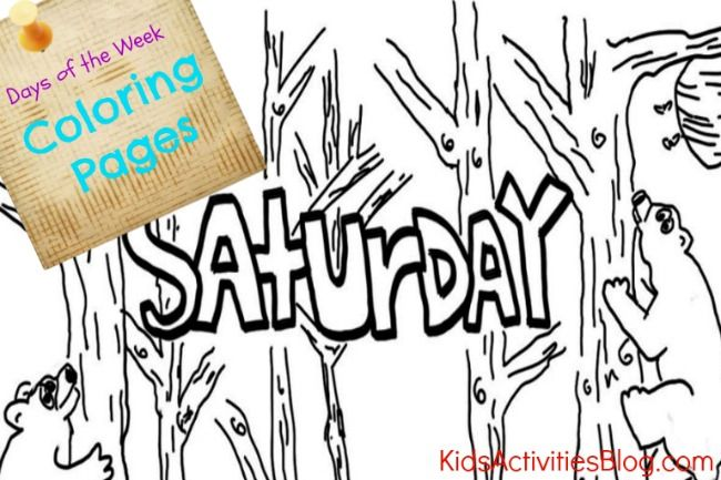 Coloring Pages Daily Activities : Best images about days of the week on pinterest free
