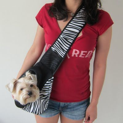 Alfie Pet Jami Pet Sling Carrier Pattern Zebra Dog Carriers