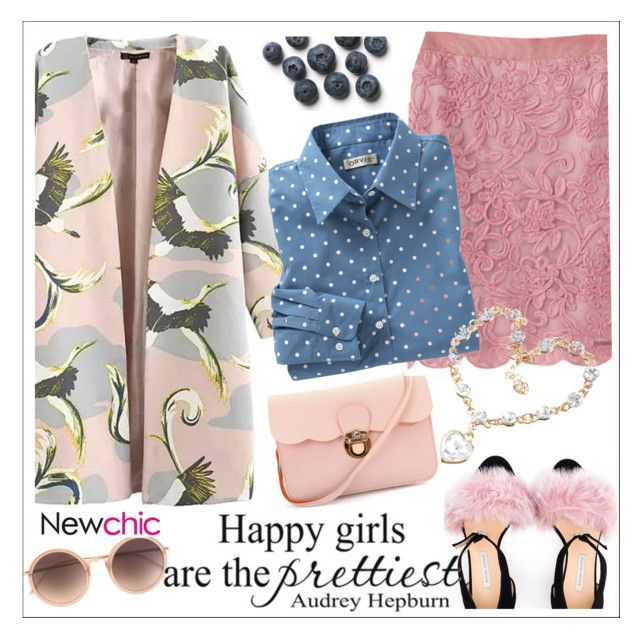 """Newchic"" by teoecar ❤ liked on Polyvore featuring Bionda Castana, Linda Farrow, women's clothing, women's fashion, women, female, woman, misses and juniors"