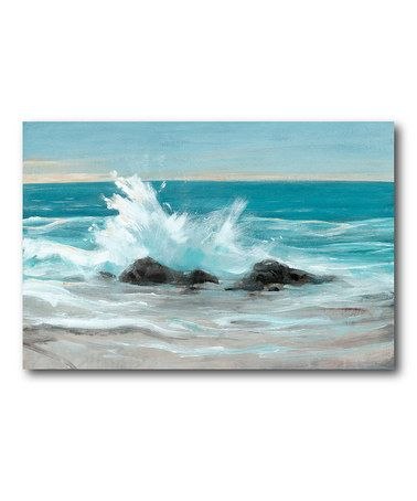 Another great find on #zulily! Crashing Wave II Canvas Wall Art #zulilyfinds