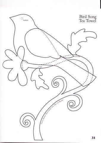 Passarinho passarinho passarinho passarinho... by carambola arte em feltro, via Flickr