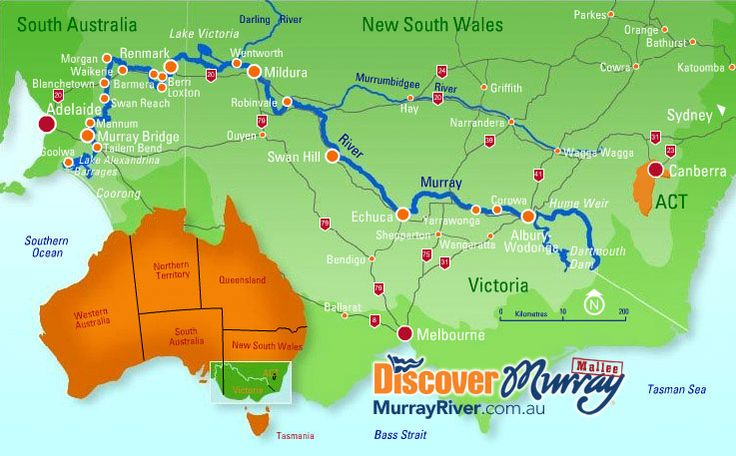 Map of the Murray River