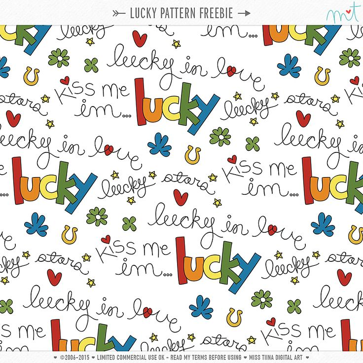Feeling lucky? Enjoy this Lucky themed CU Pattern for St. Patrick's Day! Enjoy! ♥mt