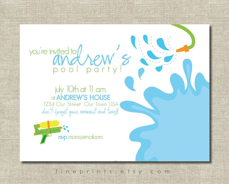 25 best images about Pool Party Invitations – Pool Party Invitations Printable