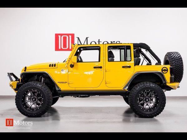 Great lookin' yellow 2015 Jeep Wrangler JK