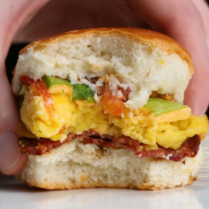 Turkey Bacon Breakfast Sliders Recipe by Tasty