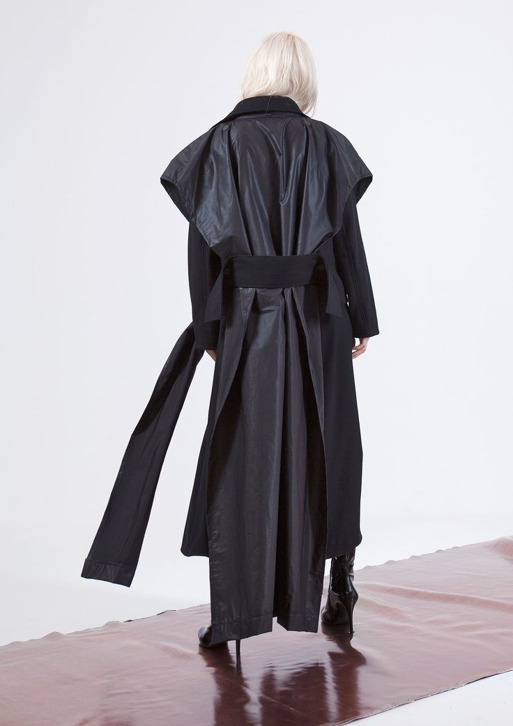 transformer jacket wool cloak structure architectural forms