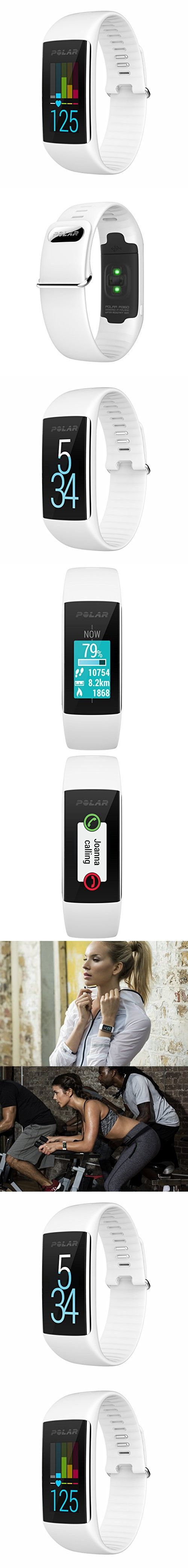 Polar A360 Fitness Tracker with Wrist Heart Rate Monitor (White, Small)