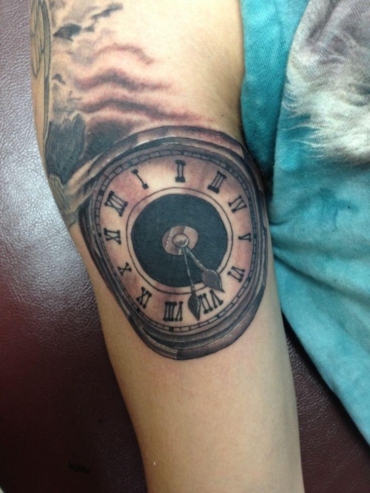 Clock Tattoo Arm