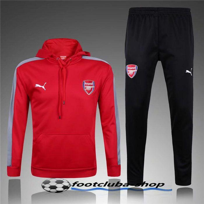 Nouveau Sweat Capuche Survetement Arsenal Rouge 2016/2017